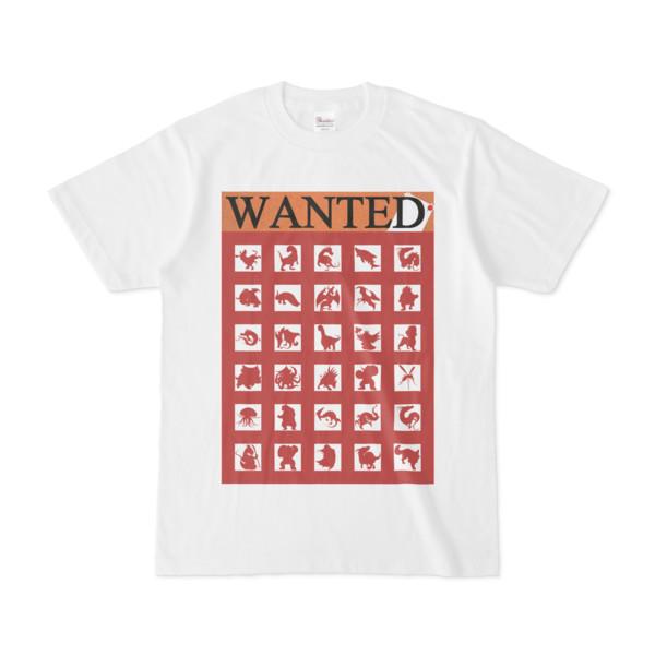 シンプルデザインTシャツ WANTED MONSTER(BROWN)