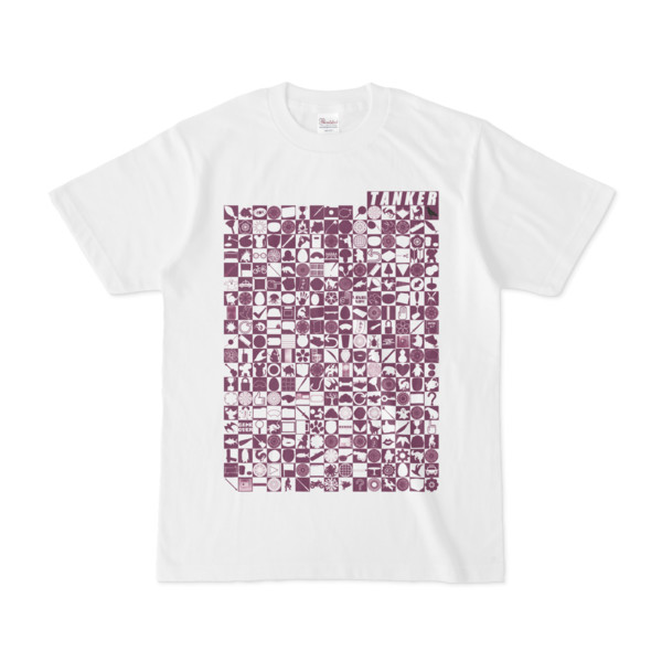 シンプルデザインTシャツ TOY☆TANKER(PURPLE)