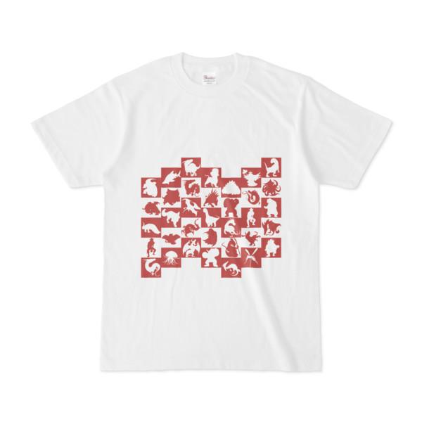 シンプルデザインTシャツ WAVE・MONSTER(BROWN)