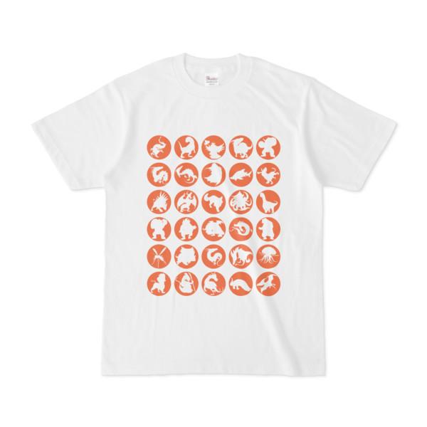 シンプルデザインTシャツ C.MONSTER(CHOCOLATE)