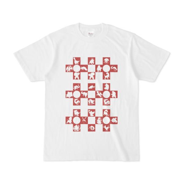 シンプルデザインTシャツ Cr/MONSTER(BROWN)